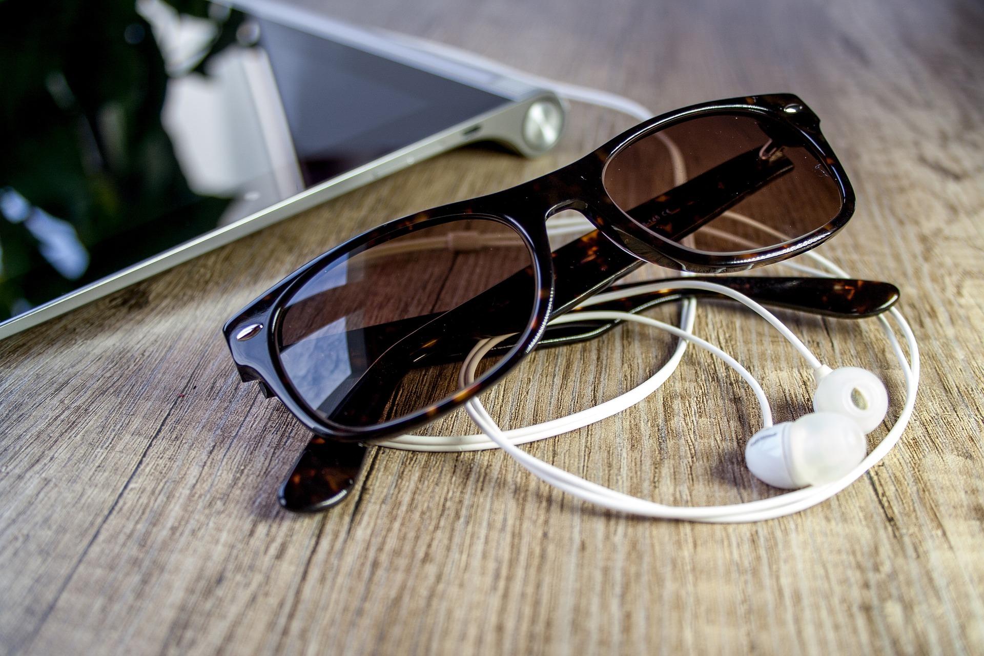 Glasses and headphones