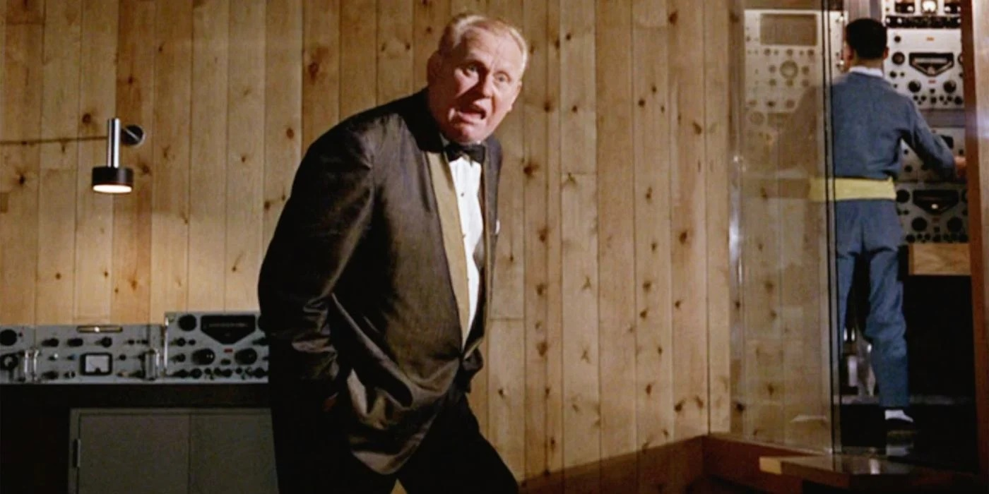 Gert Frobe (and Michael Collins) as Goldfinger